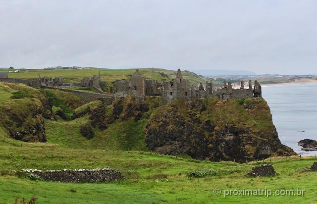 Castelo de Dunluce: ruínas medievais na Irlanda do Norte