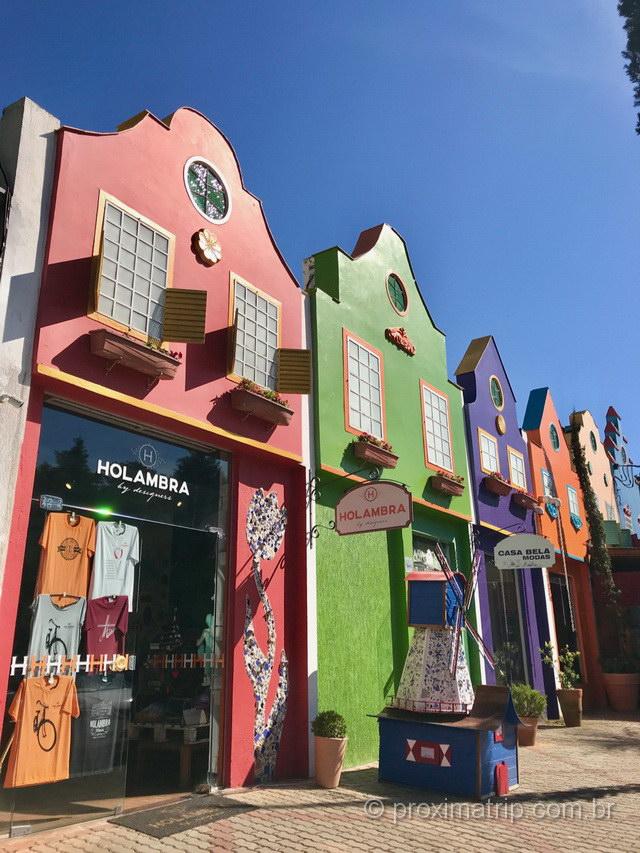 O que fazer em Holambra: as casinhas coloridas em estilo holandês são imperdíveis!