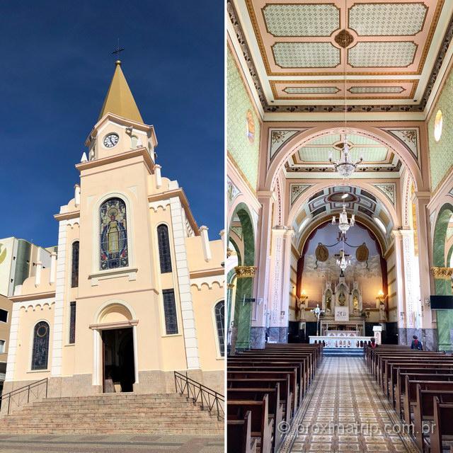 Igreja linda no centro de Monte Sião!