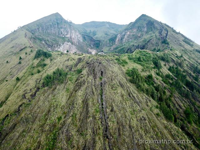 Cratera do Vulcão Batur, fotografado com o drone!