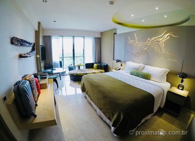 Quarto de hotel em Bali: a ilha oferece ótimas opções de hospedagem!