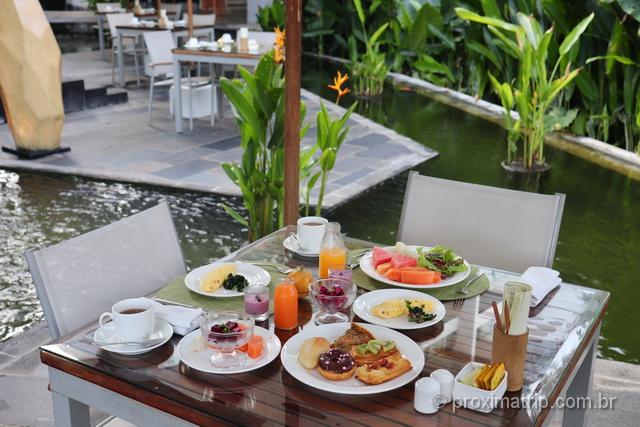 Onde ficar em Bali: escolha um hotel com café da manhã delicioso!