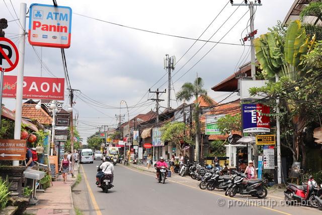 Passeio a pé pelo centrinho de Ubud: lojas, galerias de arte e restaurantes