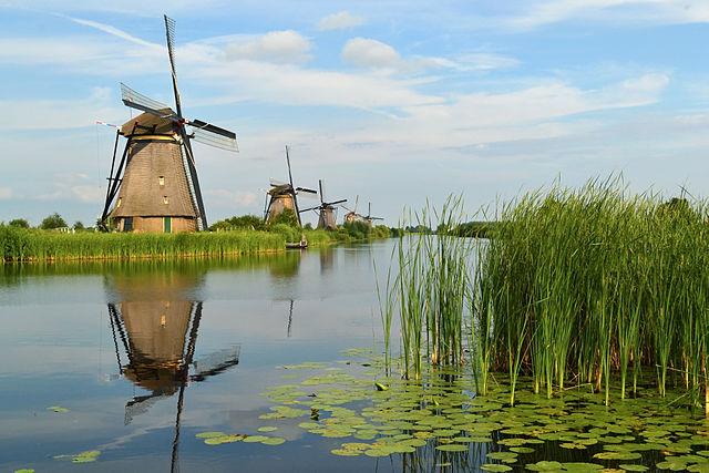 créditos: The windmills of Kinderdijk by Tarod via wikimedia.org