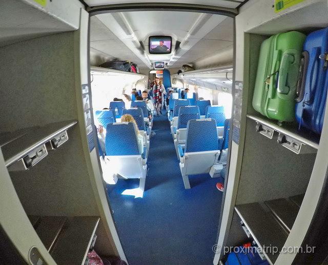 Trem AP (Alfa Pendular) de Lisboa até Porto: espaço para malas