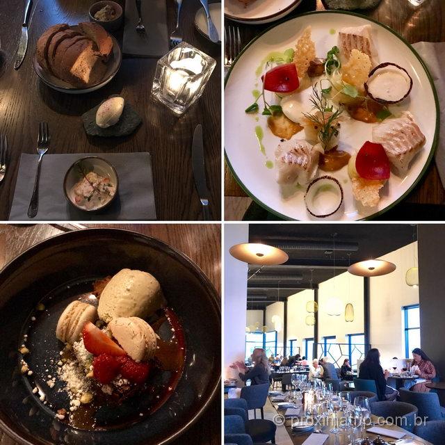 Comida na Islândia: pratos elaborados no Restaurante do Fosshotel Glacier Lagoon