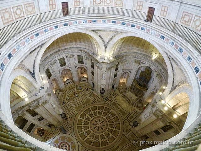 Interior do Panteão Nacional em Lisboa