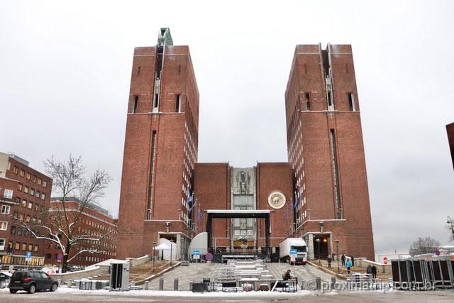 Prédio da Prefeitura em Oslo, onde todo ano se realiza a cerimônia de entrega do Nobel da Paz