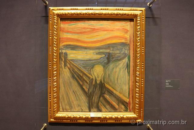 """Quadro """"O grito"""": famoso mundialmente, pode ser apreciado em museus em Oslo"""