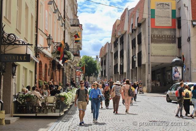 o que fazer em Vilnius - passear rua Pilies