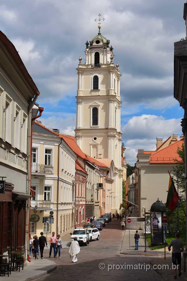 Torre da Igreja de São João (St. John), em Vilnius