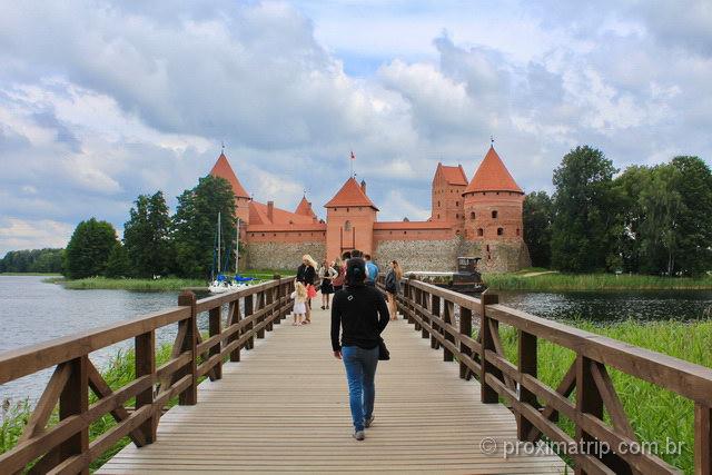 Ponte de acesso ao castelo de Trakai
