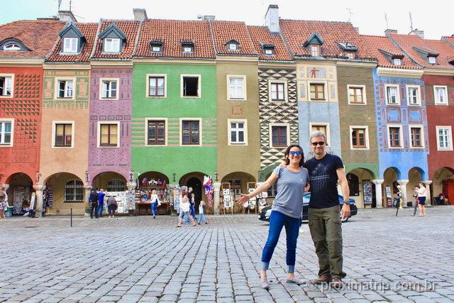 Casinhas coloridas de Poznan