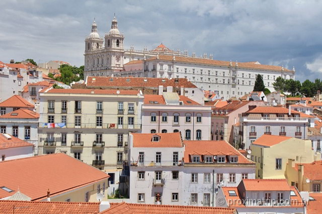 Miradouro de Santa Luzia em Lisboa
