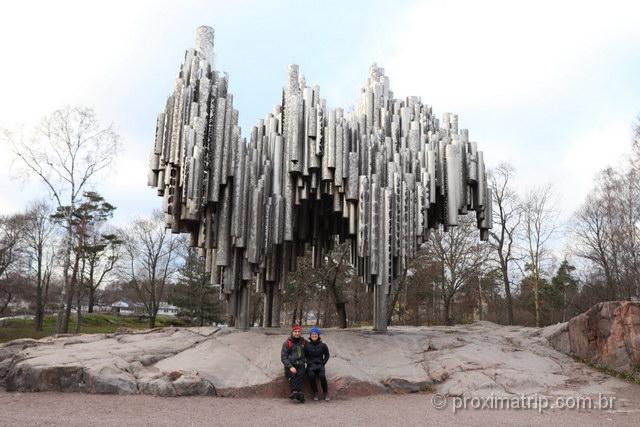 Monumento a Sibelius, uma das atrações em Helsinki