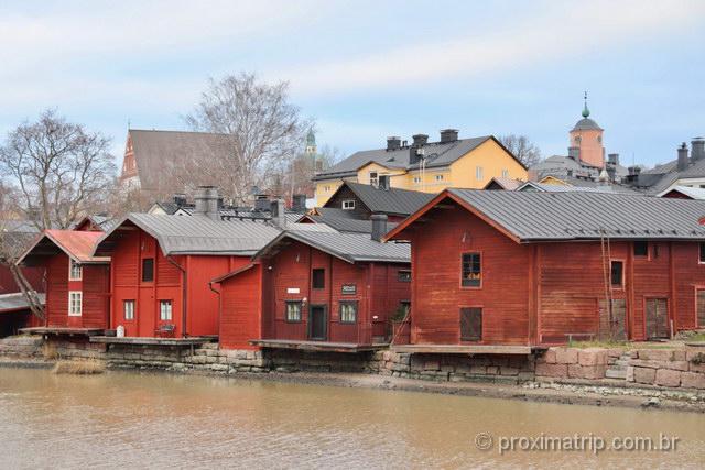 Os antigos armazéns: um dos principais atrativos turísticos da cidade