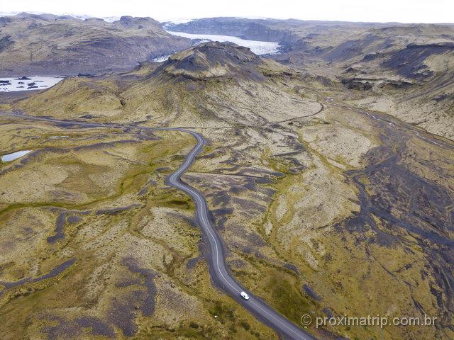 Paisagens de outro planeta na Islândia! Foto top com o drone Mavic!