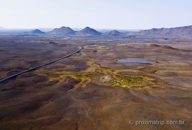 Islândia ou Marte? Paisagens bizarras nos arredores da Ring Road rumo ao norte do país