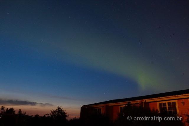 Aurora Boreal : fraquinha, mas em pleno verão na Islândia!