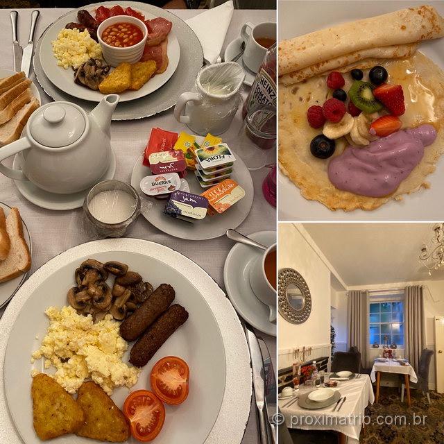 O café da manhã no País de Gales é bem parecido com o English Breakfast!