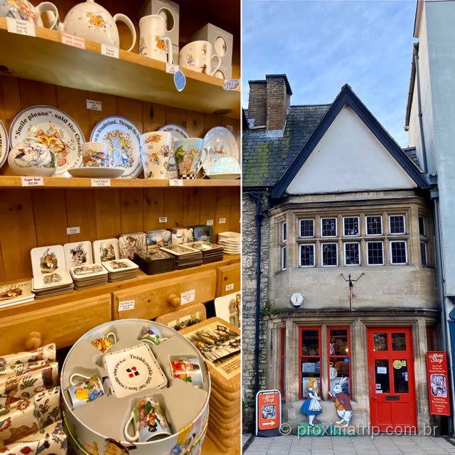 Loja temática de Alice no País das Maravilhas, em Oxford