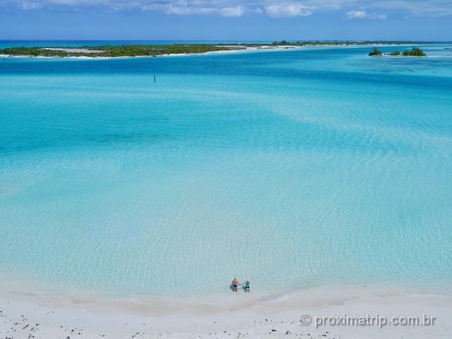 Praia de sonho em Providenciales: Leeward Beach foi nossa praia favorita em Turks and Caicos