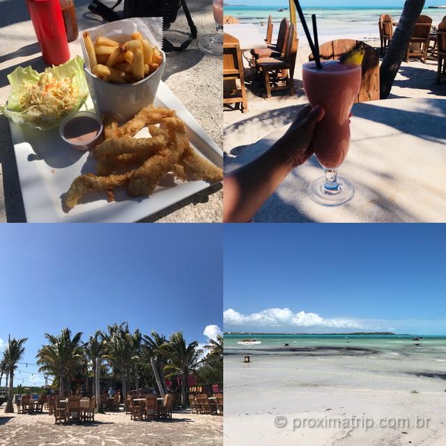 Ponto turístico e gastronômico em Providenciales: Bugaloo's em Five Cays