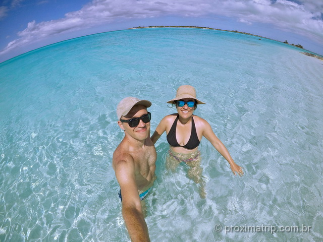 Curtindo as águas cristalinas das praias em Turks and Caicos!