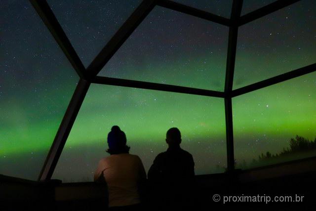 Foto Aurora boreal regulagem ISO=3200 e TEMPO DE EXPOSIÇÃO=30s