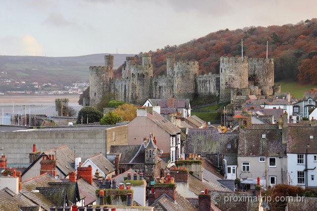 A cidade de Conwy e o castelo: um dos mais belos cenários do País de Gales
