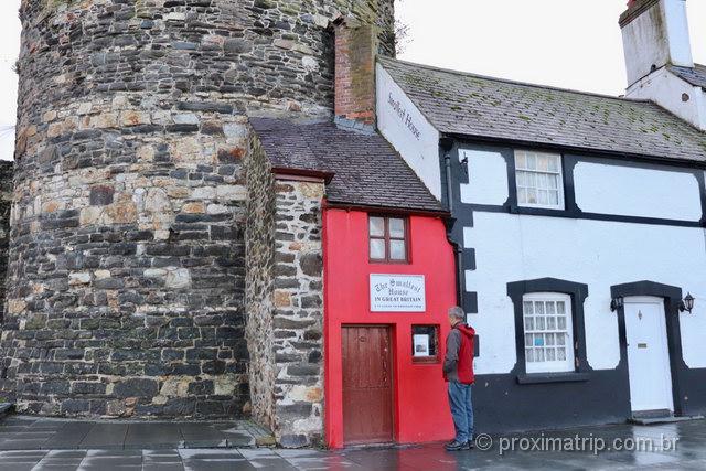 A menor casa da Grã Bretanha pode ser visitada em Conwy