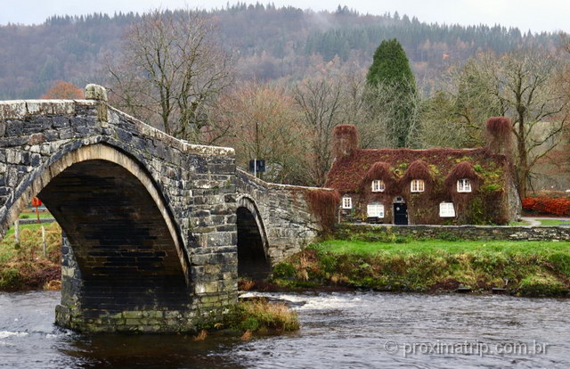 A Casa de Chá mais linda que eu já vi: na cidade de Llanrwst