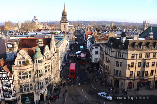 Vista de Oxford do alto, a partir da Carfax Tower!