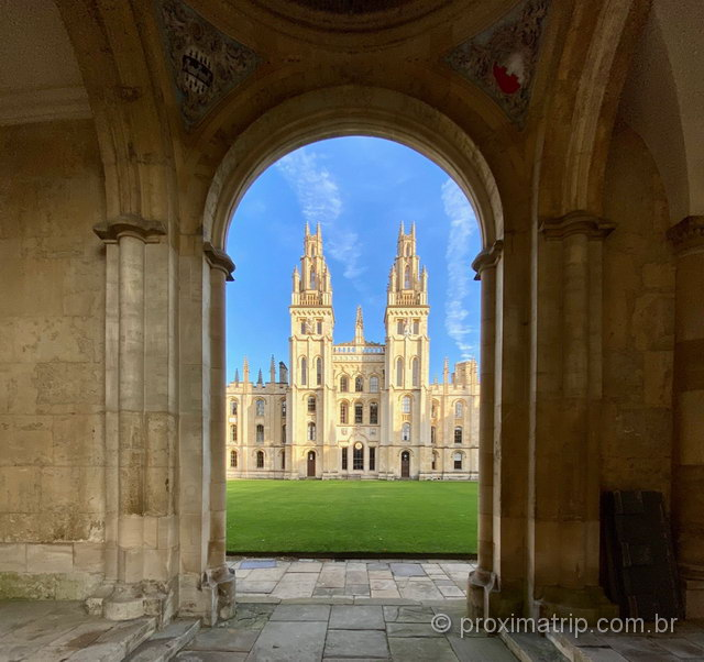 Christ Church College - um dos colleges mais tradicionais da Inglaterra