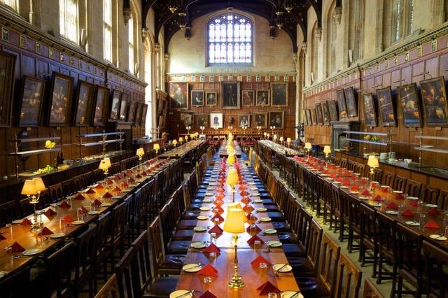 Locais de filmagem de Harry Potter em Oxford: créditos C.C.college