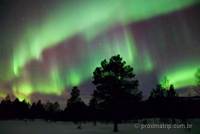 Foto Aurora boreal em Tromso: regulagens ISO=6400 e TEMPO DE EXPOSIÇÃO=5s