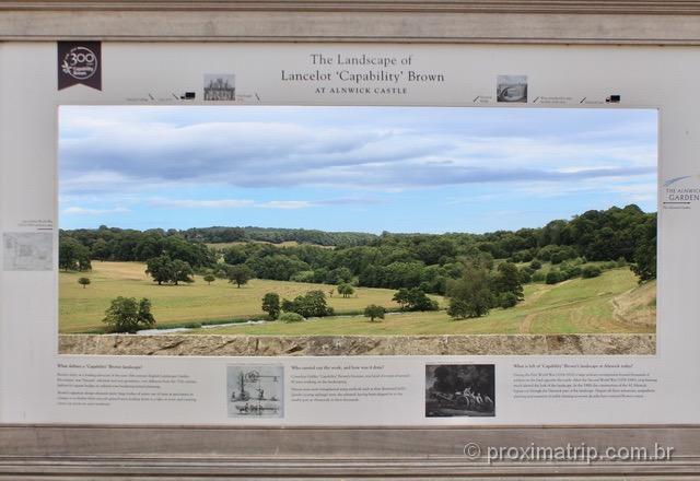 Paisagem nos arredores do Alnwick Castle: parece uma pintura!