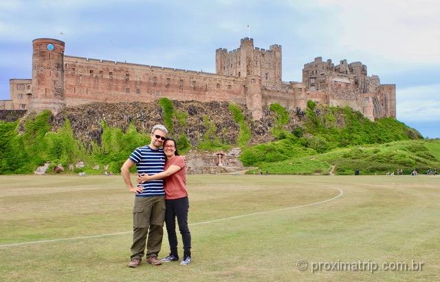 Fotinho de recordação no Castelo de Bamburgh!