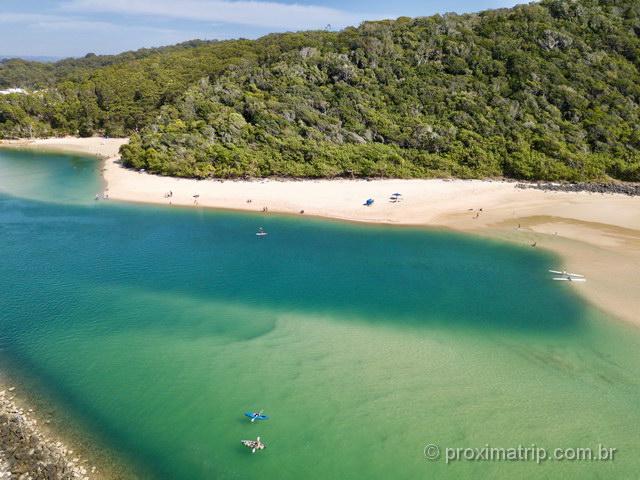 drone na Austrália: Tallebudgera Creek em Gold Coast