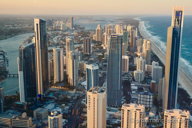 Skyline de Gold Coast Austrália