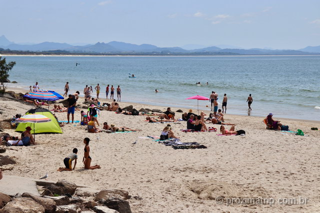 Praia Principal de Byron Bay, na Austrália