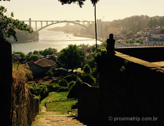 Bonito entardecer em Porto