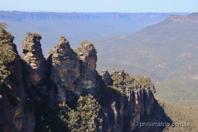 Paisagem no Parque Nacional Blue Mountains, Austrália