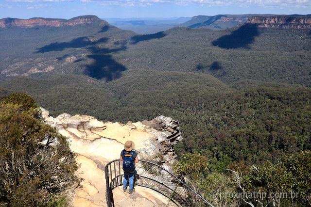 Um dos vários mirantes em Blue Mountains, Austrália
