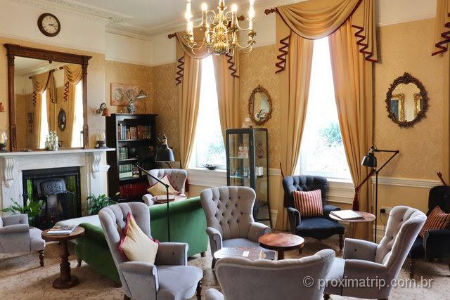 decoração clássica em uma casa típica do interior da Inglaterra