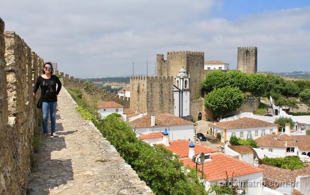 O que fazer em Óbidos - caminhar pela Muralha