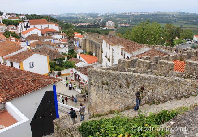 Escada de acesso à muralha de Óbidos