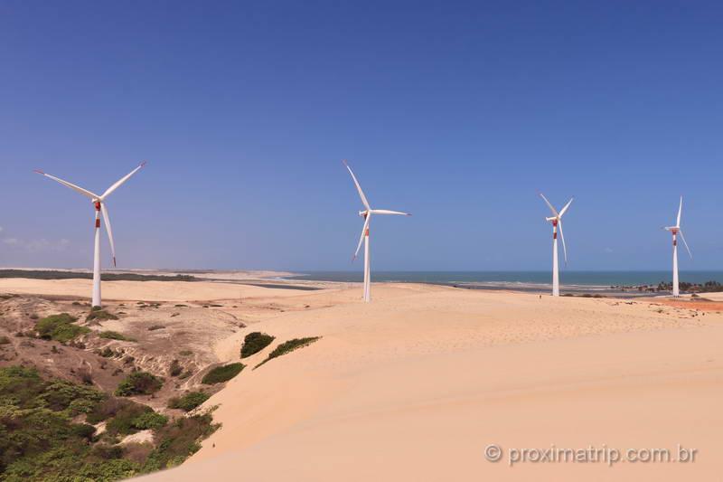 Torres eólicas em Mundaú, Ceará
