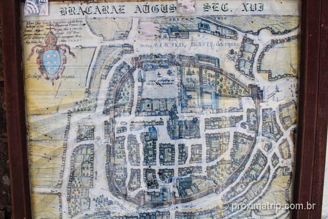 Mapa antigo de Braga