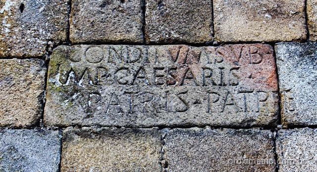 Inscrição romana parede externa Capela São Geraldo - Braga